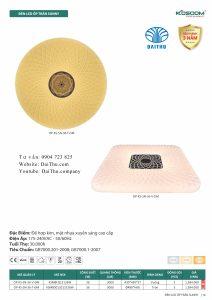 Đèn led ốp trần Sunny tròn vuông Kosoom 36W 3 chế độ đổi màu, đèn trang trí phòng khách - phòng ngủ