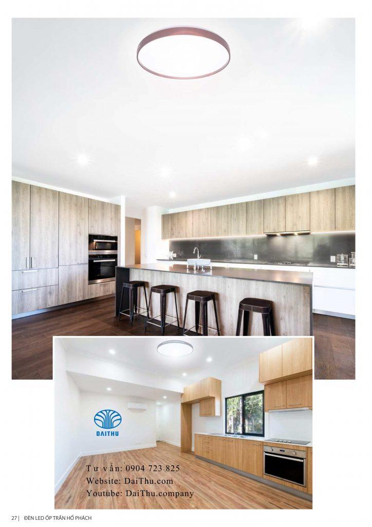 Đèn led ốp trần Hổ Phách Kosoom viền trắng / nâu đen/ bạc xám 36W 3 chế độ đổi màu, đèn trang trí phòng khách - phòng ngủ