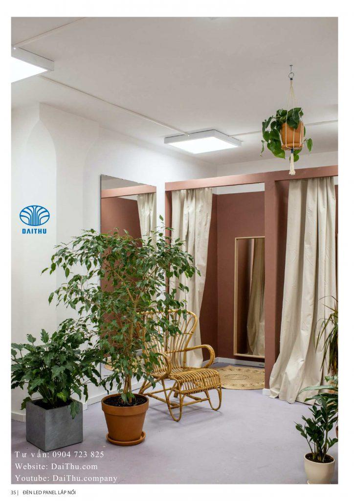 Đèn Led Panel văn phòng Kosoom 600*600 ánh sáng trắng / trung tính 4000k - Lắp nổi trần bê tông