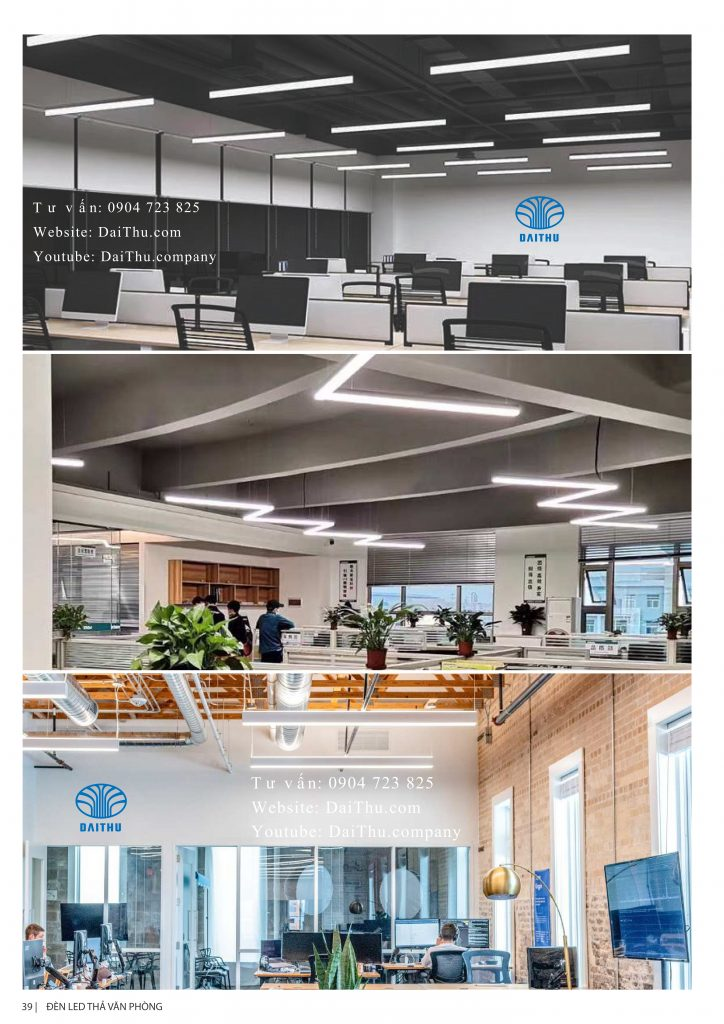 Đèn thả văn phòng 1m2 30W 40W 50W sáng tràn viền - có thể nối tiếp