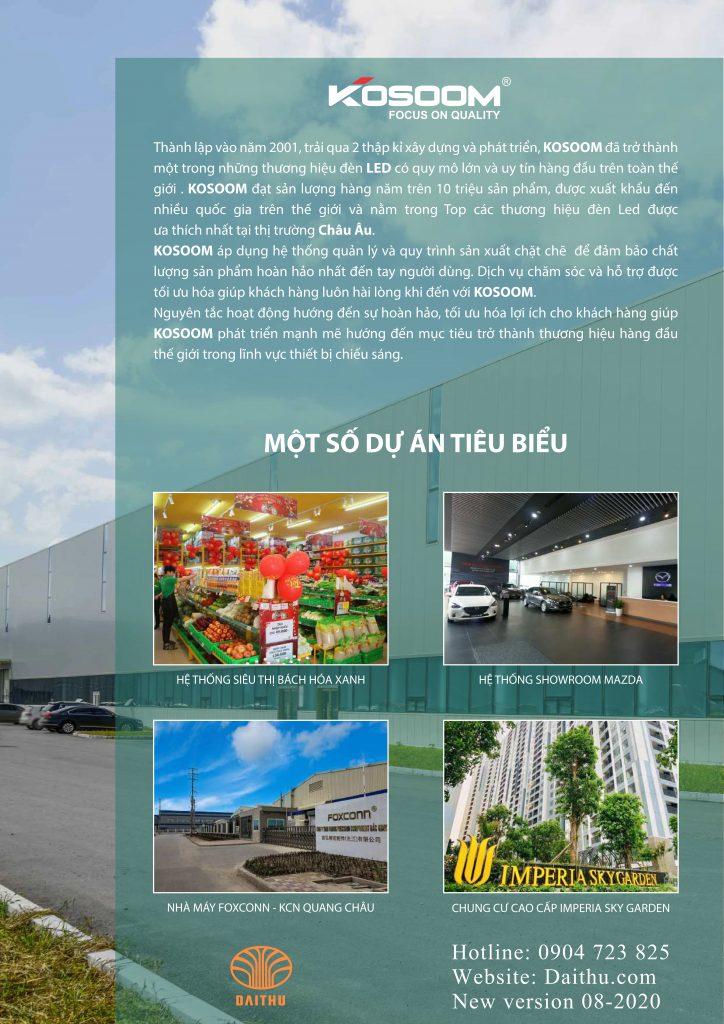 Dự án công trình tiêu biểu sử dụng Led Kosoom - chuỗi siêu thị Bách Hóa Xanh