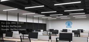Đèn thả văn phòng 1m2 Kosoom sáng tràn viền 30W 40W 50W trắng - trung tính