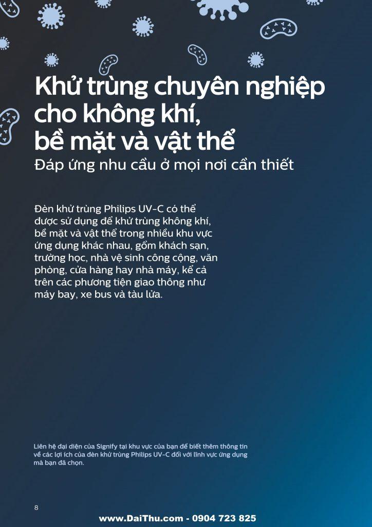 Giải pháp đèn UVC Philips khử trùng diệt khuẩn an toàn 2020 2021 08
