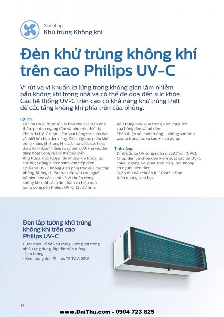 Đèn khử trùng không khí trên cao Philips UVC diệt khuẩn không khí môi trường 1