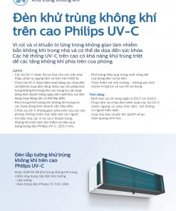 Đèn khử khuẩn không khí Philips UV C gắn tường - Giải pháp UVGI vùng trên căn phòng