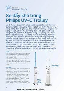 Xe đẩy khử trùng Philips UVC Trolley - Giải pháp diệt khuẩn bề mặt hiệu quả và an toàn