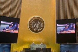 Đại sứ Đặng Đình Quý phát biểu trước Đại hội đồng Liên Hợp Quốc-Ảnh Reuters