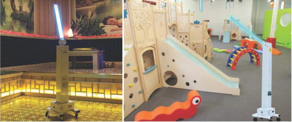 Giải pháp khử trùng khách sạn resort diệt khuẩn buồng phòng - Đèn UVC Philips Trolley