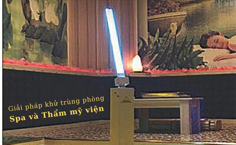 Giải pháp khử trùng phòng Spa và Thẩm mỹ viện - đèn bàn UVC Philips và xe đẩy khử trùng Trolley