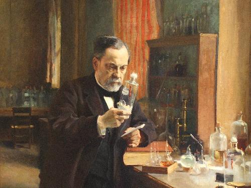 Louis Pasteur trong phòng làm việc - Tranh_Edelfeldt