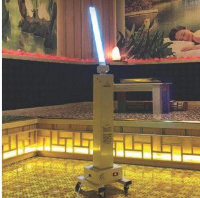 Xe đẩy khử trùng UV Trolley diệt khuẩn phòng Spa và Thẩm mỹ viện an toàn và dễ dàng sử dụng