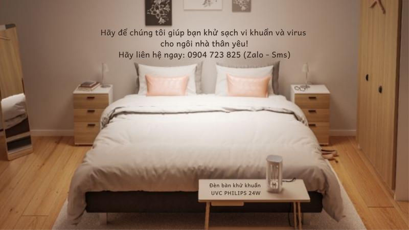 Đèn bàn UVC 24W Philips khử trùng phòng ngủ - Khử sạch vi khuẩn và virus cho ngôi nhà thân yêu của bạn - DaiThuCom - 0904723825 (2)