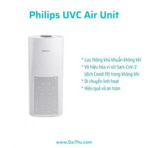 Philips UVC Air Unit bộ khử khuẩn không khí di động UVCA100 84W & UVCA200 120W DaiThu Company
