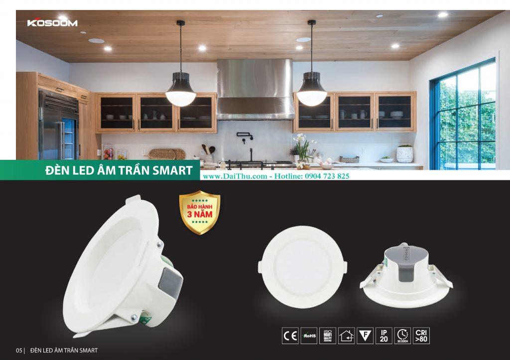 Đèn Led âm trần Kosoom TDST Smart giá tốt cho công trình