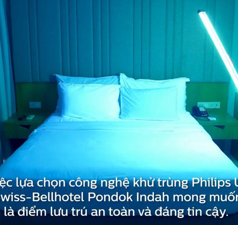 Giai Phap Khu trung Khach San & Toa Nha Van Phong & Can Ho Chung Cu bang Xe day diet khuan Trolley UVC Philips va Den Thanh TMS160C UVC 1m2 36W co sensor cam bien