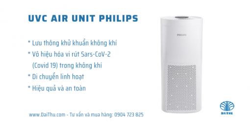 Máy Khử Khuẩn UVC Air Unit Philips - Thiết bị khử trùng không khí hiệu quả - Có chức năng quạt và Di Động linh hoạt các vị trí phòng