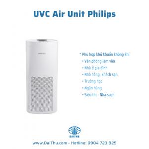 Máy Khử Khuẩn UVC Air Unit Philips - Thiết bị khử trùng không khí hiệu quả - Có chức năng quạt và Di Động linh hoạt các vị trí phòng UVCA 100 200