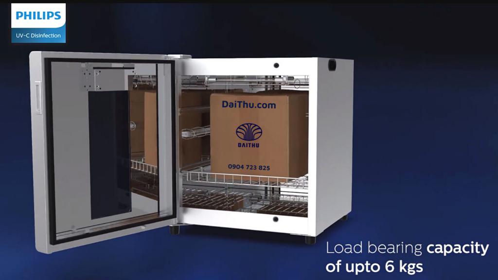 Tủ khử khuẩn UVC Chamber PHILIPS khử vi khuẩn và vi rút trên hàng hóa sản phẩm