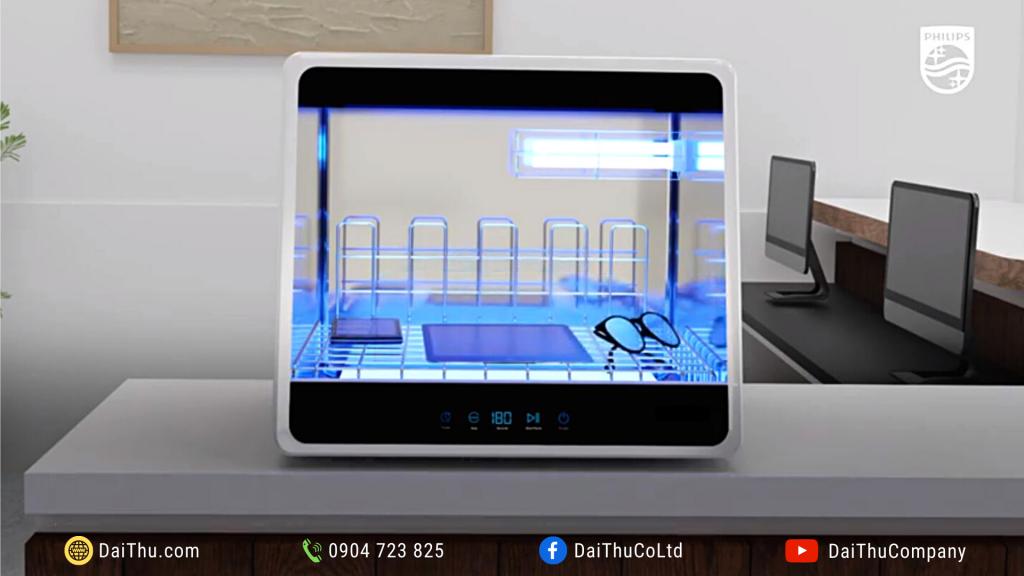 Tủ khử trùng UVC mini Chamber UVCC090 48L 36W khử khuẩn vật dụng văn phòng doanh nghiệp & chuỗi cửa hàng bán lẻ 1