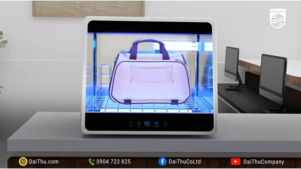 Tủ khử trùng UVC mini Chamber UVCC090 48L 36W khử khuẩn vật dụng văn phòng doanh nghiệp & chuỗi cửa hàng bán lẻ 2